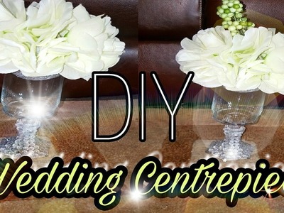 DIY DOLLAR TREE WEDDING BLING CENTREPIECE