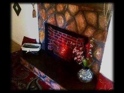 DIY faux fireplace made of Plaster of paris | cozy ,romantic decor