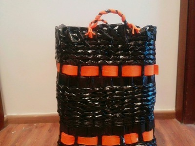 DIY: how to make newspaper basket. recycled newspaper basket.