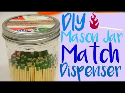 DIY Mason Jar Match Dispenser | Make It!
