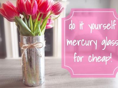 DIY Mercury Glass with a $1 vase!