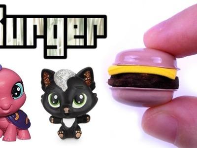 DIY Miniature Cheeseburger - DIY LPS Crafts & Doll Crafts