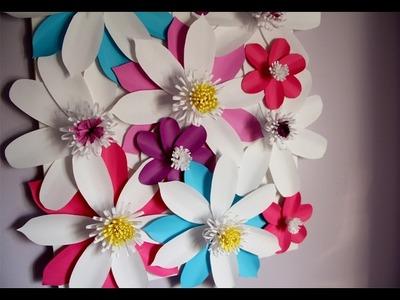 DIY Paper Flower Canvas