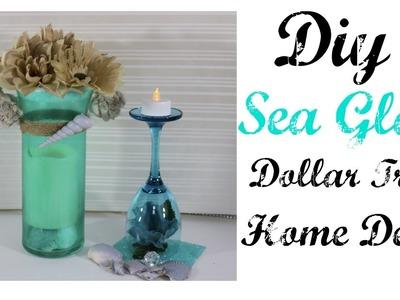 DIY SEA GLASS DOLLAR TREE HOME DECOR
