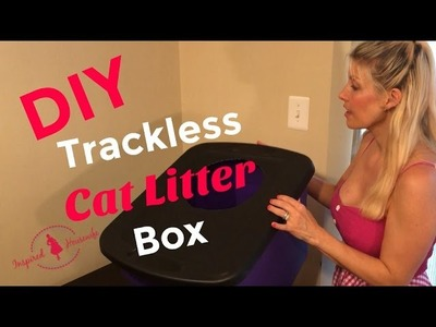 DIY Trackless Cat Litter Box