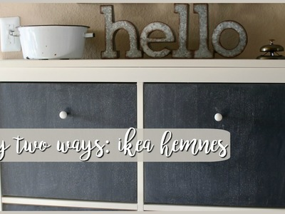 DIY Two Ways⎪Ikea Hemnes Shoe Cabinet
