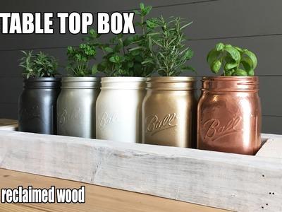 DIY WOODEN BOX TABLE DECOR