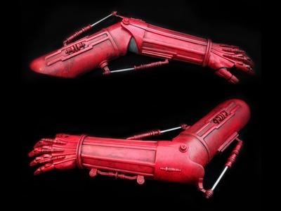 Droid Arm ROBOT ARM C-3PO Tutorial - How to assemble VACUFORM Parts VIDEO 1 of 2