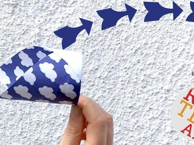 Easy Flying Ring - Paper Magic Ring - Flying Tube - Vortex Flyer - DIY Paper Toys