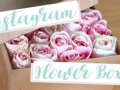 Easy Instagram Box of Flowers DIY