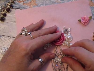 Gorgeous Blinged Up Bib Necklace Tutorial - jennings644