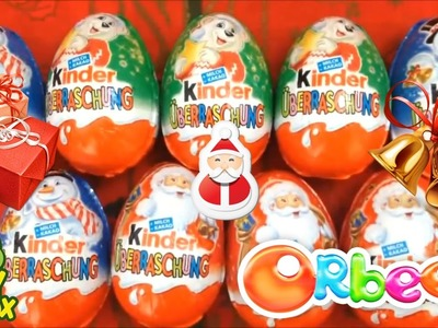 Happy XMAS Special Surprise Eggs Kinderjoy learn colors Orbeez DIY