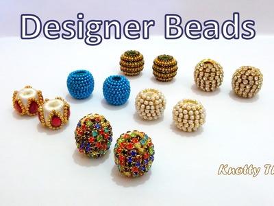 How to make Multipurpose Silk Thread Designer Beads at Home | Tutorial | Knotty Threadz !!