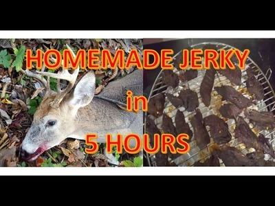 How to make STORE BOUGHT JERKY from Raw Meat in 5 hours!