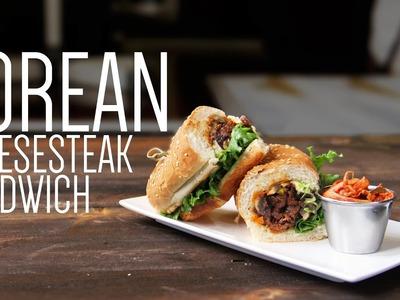 Korean Cheesesteak Sandwich | How to make Fusion Philly Cheesesteak