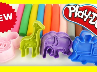 Learn Colors Play Doh Mickey Mouse Elephant Animals Peppa Pig Molds DIY for Kids Play Doh toys