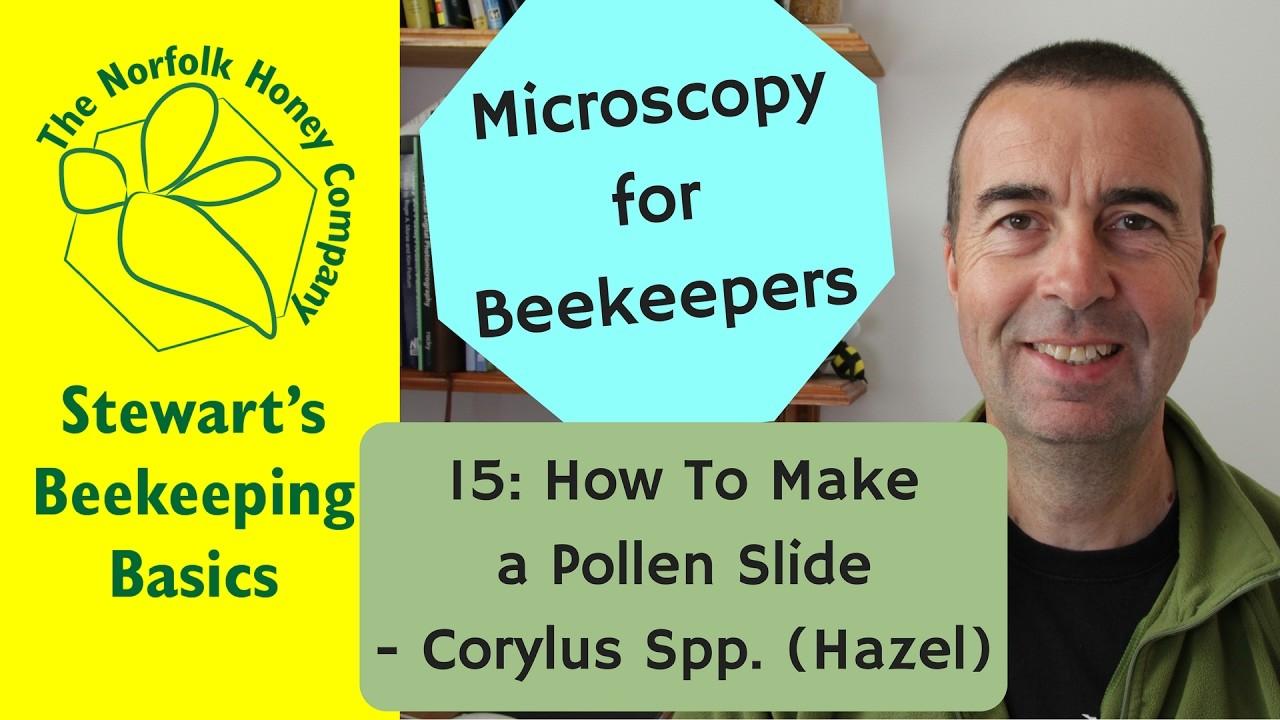 Microscopy for Beekeepers 15: How to Produce a Pollen Slide: Hazel - #Beekeeping Norfolk Honey Co.