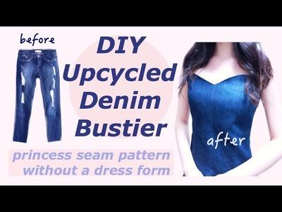 Refashion DIY Old Jeans to Bustierㅣmadebyaya
