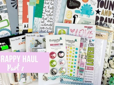 Scrappy Haul Part 2 ~ Scrapbooking, Boy Embellishments, New Releases! + + + INKIE QUILL