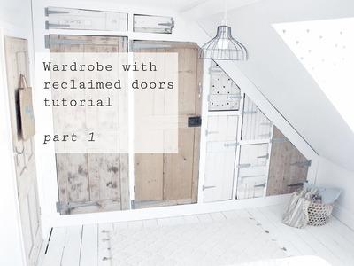 Wardrobe with reclaimed doors tutorial, part 1