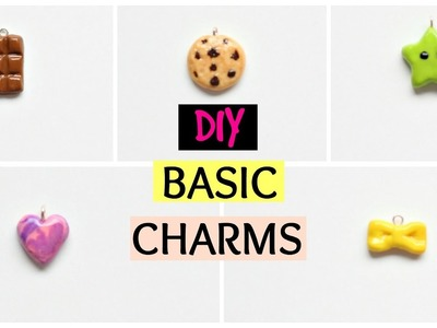5 Basic and Easy Polymer Clay Charms for Beginners
