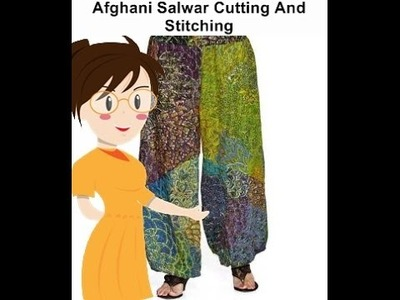 Afghani Salwar Cutting And Stitching - Tailoring With Usha