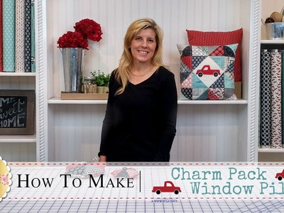 Charm Pack Window Pillow | with Jennifer Bosworth of Shabby Fabrics