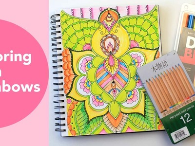 Coloring with Tombows | Adult Coloring Page TimeLapse | Tombow Dual Brush pen tutorial