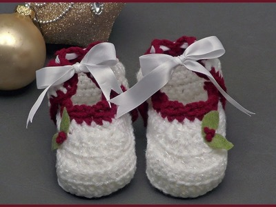 Crochet Tutorial: Holly-Day Booties