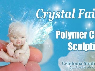 Crystal Fairy Polymer Clay sculpture OOAK Art Doll