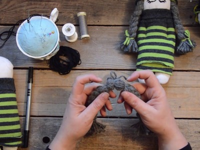 Cute sock doll hand sewing tutorial