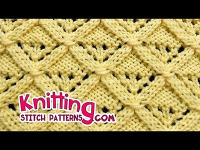 Diamond Lattice | Lace Knitting #25
