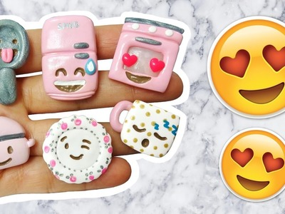 DIY EMOJI KITCHEN! Polymer Clay Tutorial