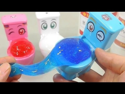 DIY How To Make Colors Toilet Poop Slime Clay Learn Colors Numbers Counting Slime   Bob The Train