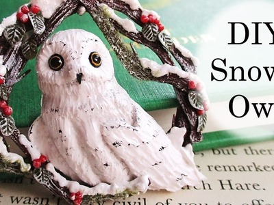 DIY Polymer Clay Snowy Owl Christmas Tree Decoration Tutorial. Maive Ferrando