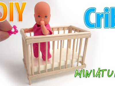 DIY Realistic Miniature Crib | DollHouse