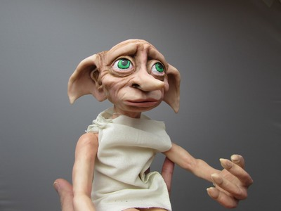 DOBBY Poseable Clay Doll Timelapse. Tutorial  Part 2