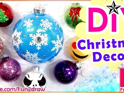 Easy DIY CHRISTMAS DECORATION ORNAMENTS! Amazing Art ★ How to Draw