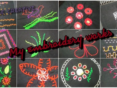Easy Hand Embroidery Works (Mirror Work, Running stitch, Back stitch etc) Indian You-tuber