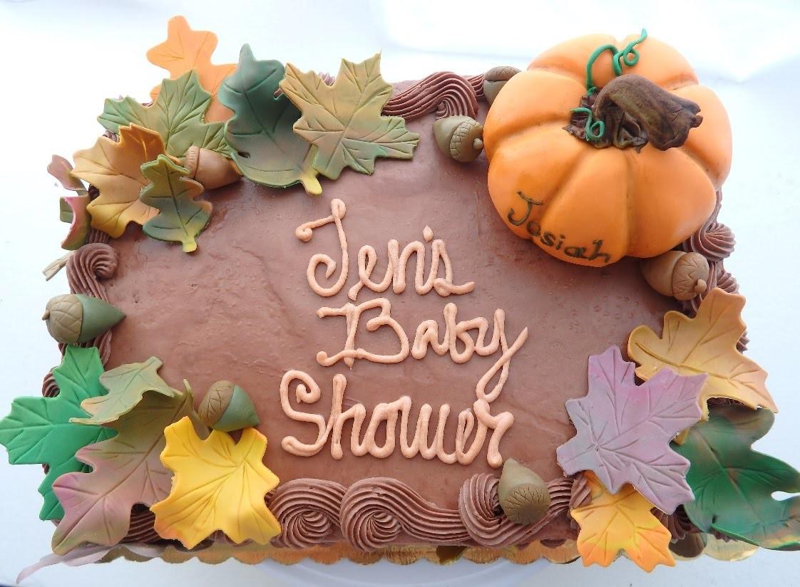 Fall Cake with Fondant Leaves & Acorns | Marisha's Couture Cakes
