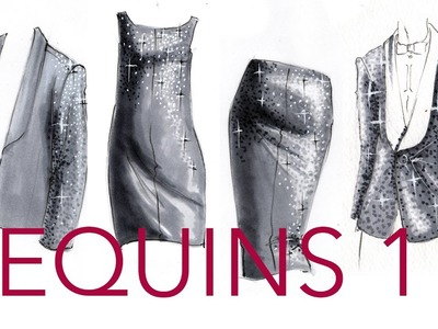 Fashion Illustration Tutorial: Sequins (Part 1.2)