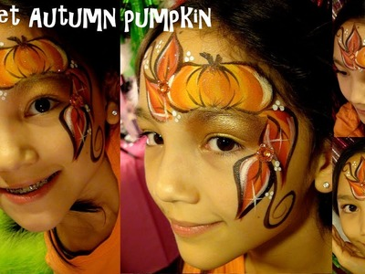 Halloween Pumpkin Fall Harvest Face painting - Google Glass