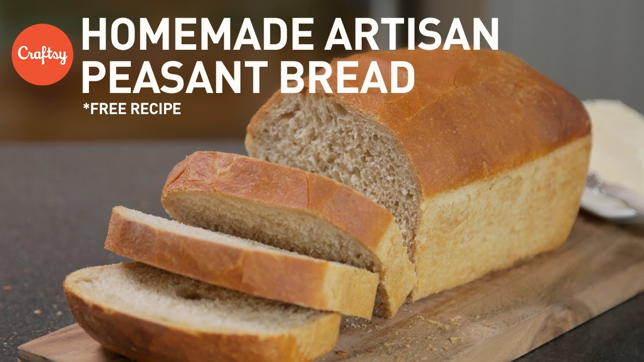 Homemade Artisan Peasant Loaf Bread (with free recipe) | Baking Tutorial with Zoë François