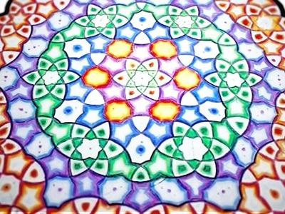 How To Draw Mandala - The Cloudy Mandala