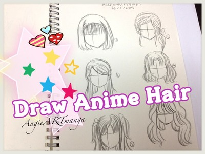 How to draw manga hair six different ways