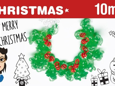 How to make a Christmas Holly Loom Band Bracelet