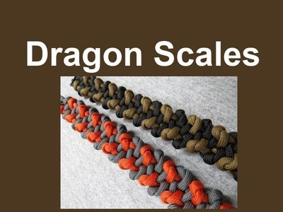 How to make a Dragon Scales Paracord Bracelet Tutorial (Paracord 101)