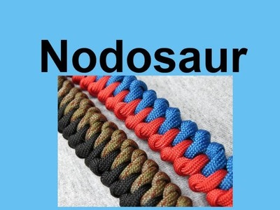 How to make a Nodosaur Paracord Bracelet Tutorial (Paracord 101)