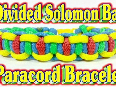 How To Make A Paracord Divided Solomon Bar in Autism Awareness Colors