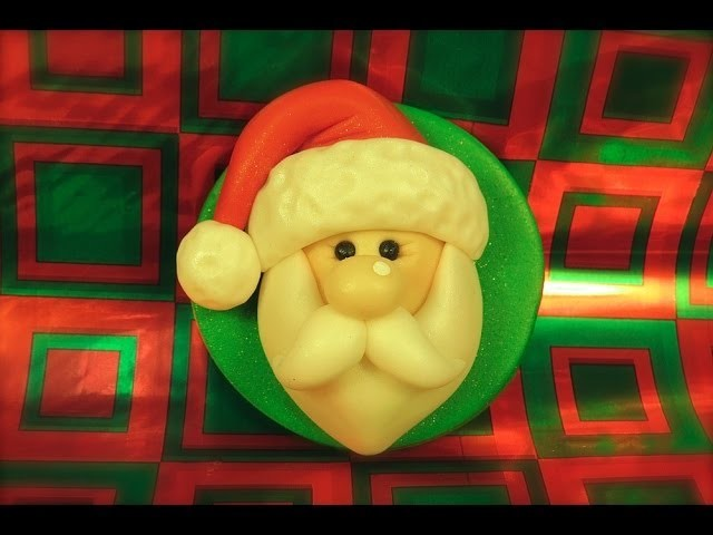 How To Make A Santa Claus Cupcake Topper: In Collaboration With Haniela's